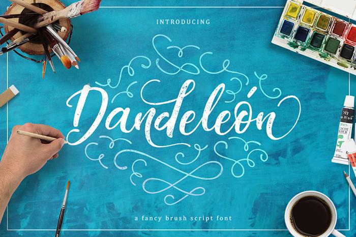 Dandeleon Vintage Font poster