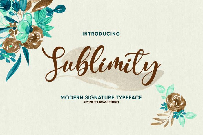 Sublimity Font poster