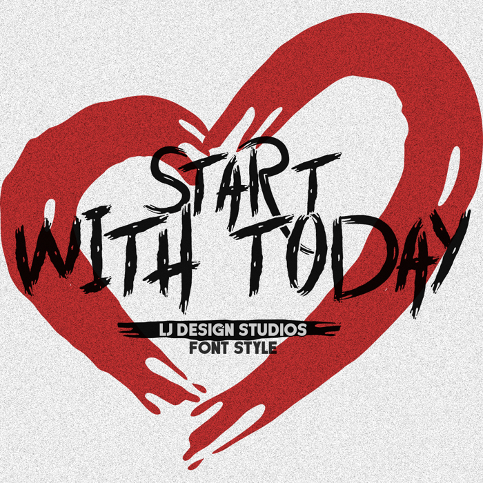 Start with Today Font poster