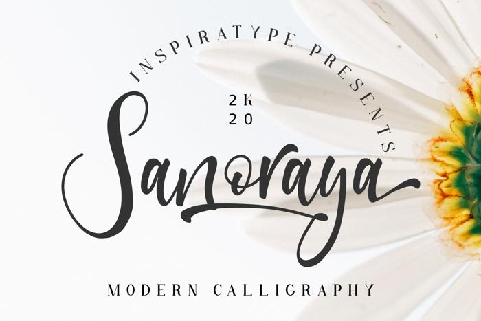 Sanoraya Font poster