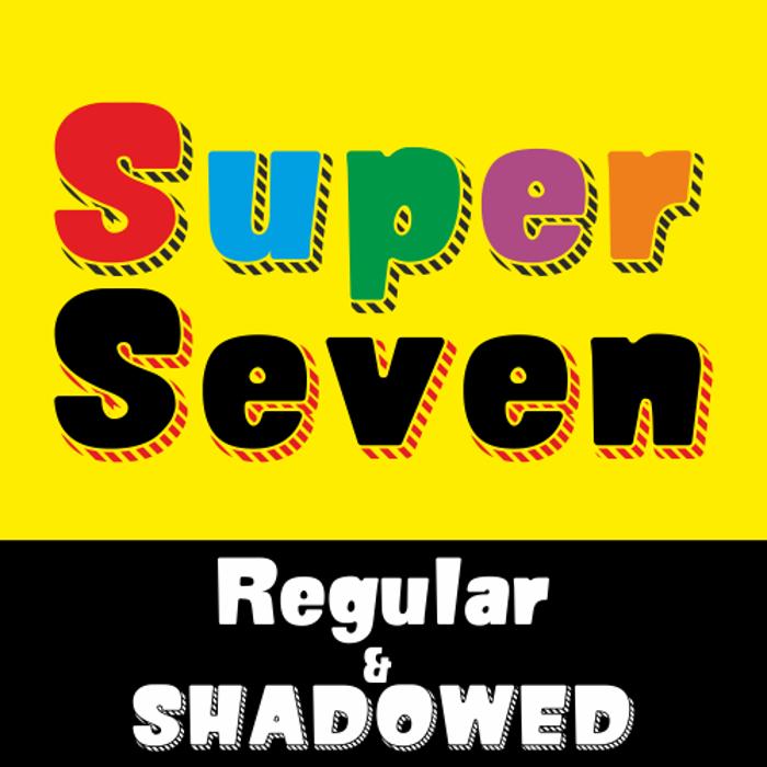 SUPER SEVEN Font poster