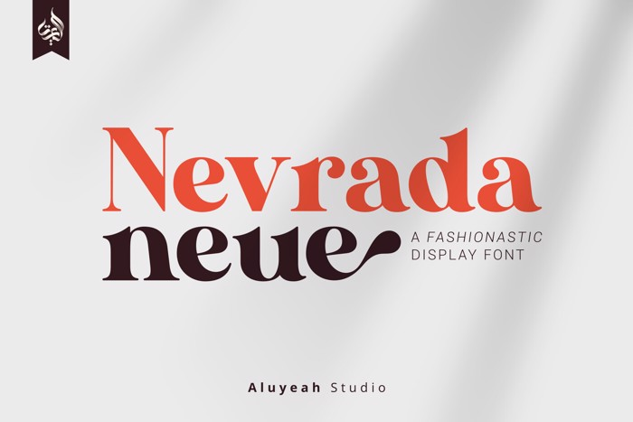 Nevrada Neue Font poster
