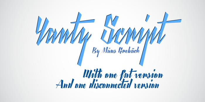 Yanty Script Demo Font poster