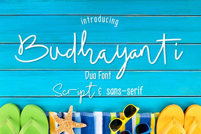 Budhayanti Script Font poster