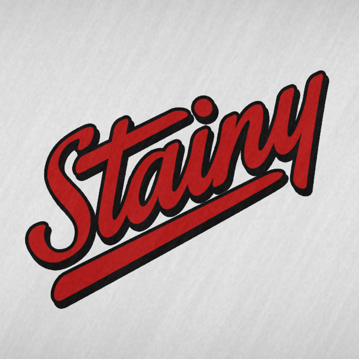 Stainy Font poster