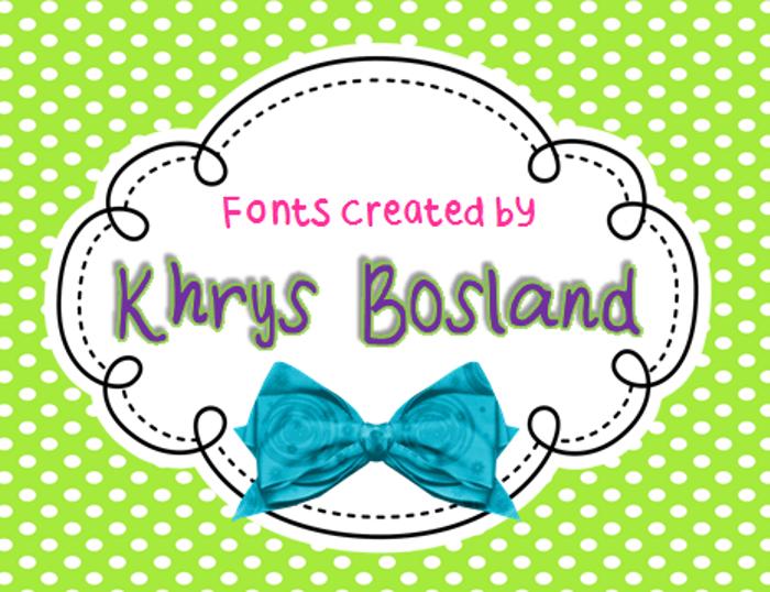 KBStripedPajamas Font poster