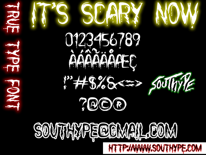 it's Scary Now St Font poster