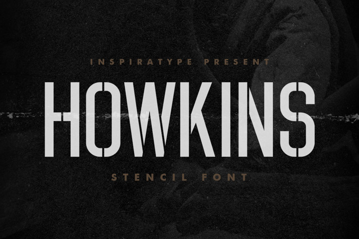 HOWKINS Font poster