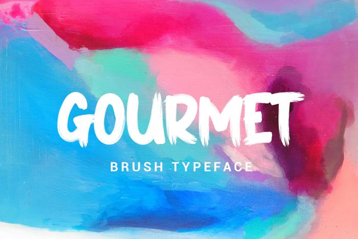 GOURMET Font poster