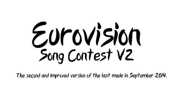 Eurovision Song Contest 2015 V2 Font poster