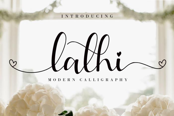 Lathi Font poster
