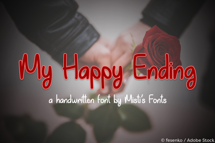 My Happy Ending Font poster