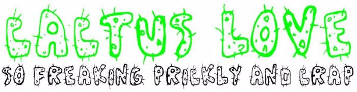 Cactus Love Font poster