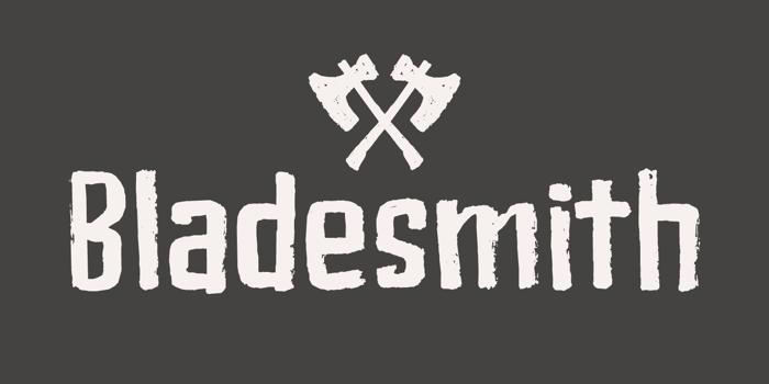 Bladesmith DEMO Font poster