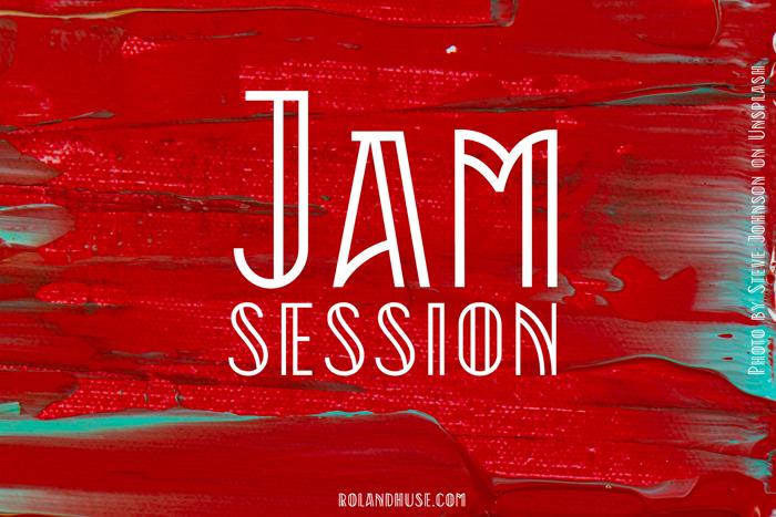 Jam Session Font poster