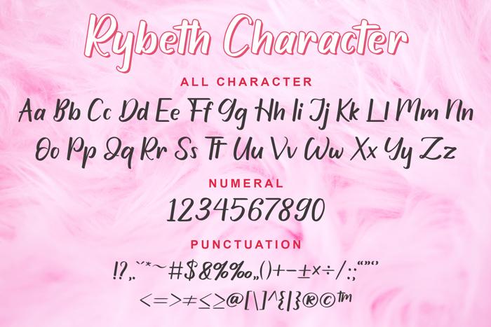 Rybeth Font poster