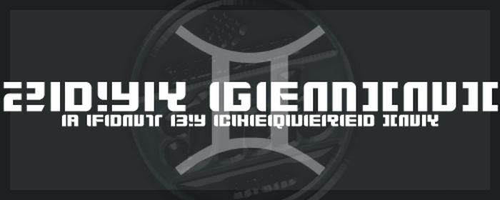 Zdyk Gemini Font poster