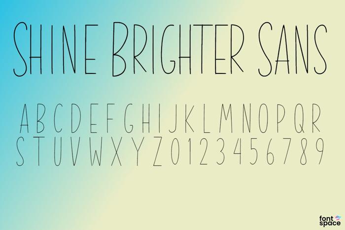 Shine Brighter Sans Font poster