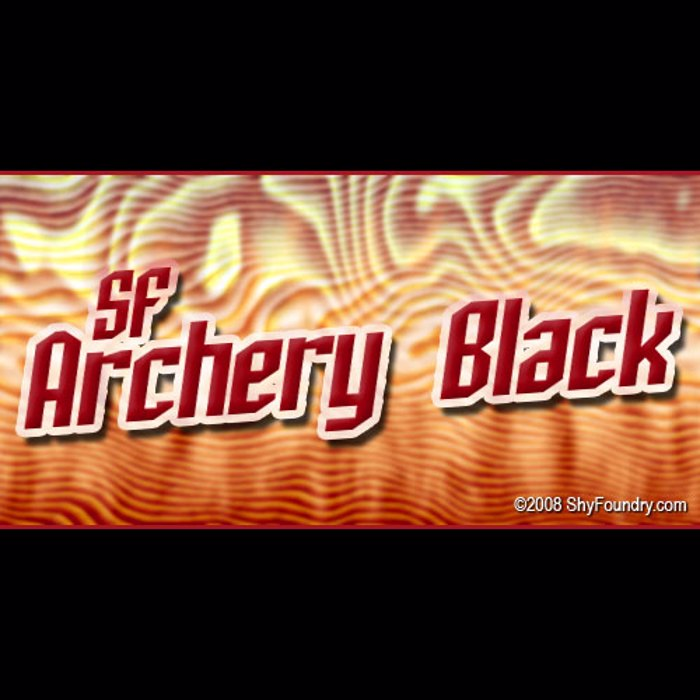 SF Archery Black Font poster