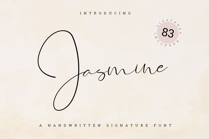 Jasmine Font poster