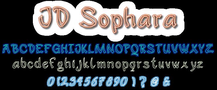 JD Sophara Font poster