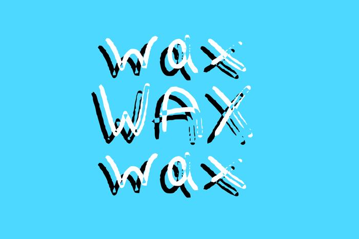 Wax Font poster