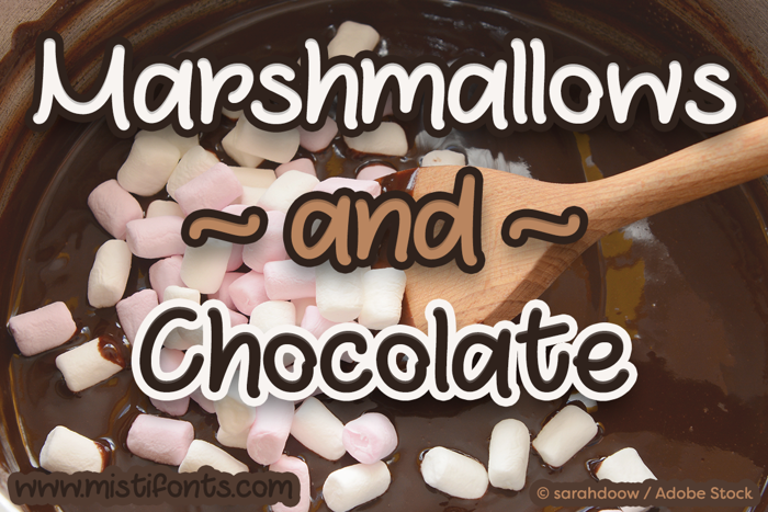 Marshmallows and Chocolate Font poster