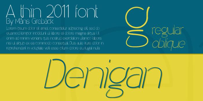 Denigan Font poster