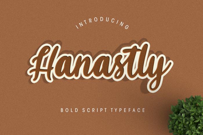 Hanastly Font poster