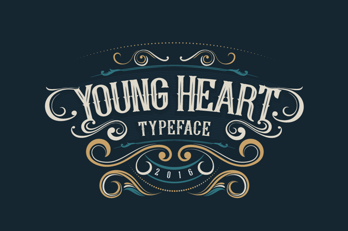 Young Heart Font poster