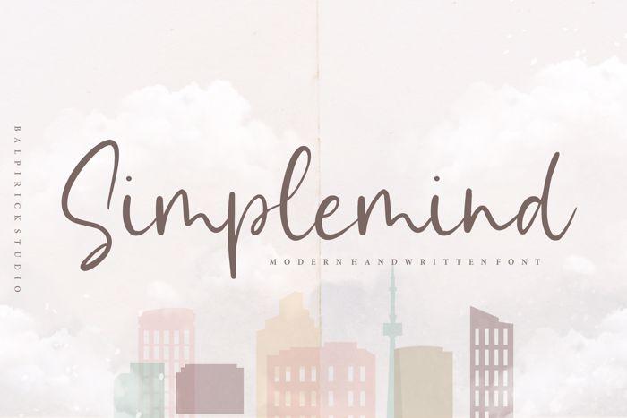 Simplemind Font poster