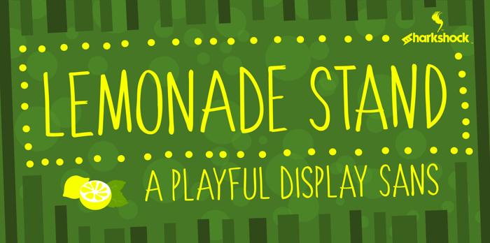 Lemonade Stand Font poster