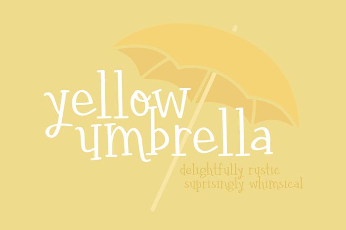 yellow umbrella Font poster