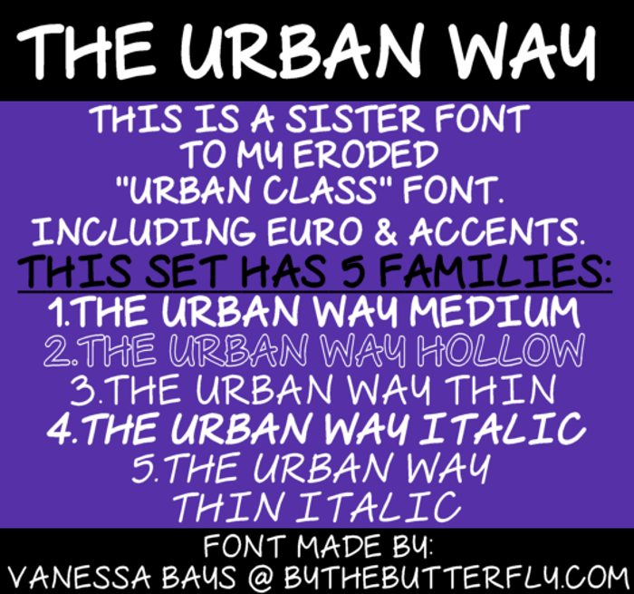 The Urban Way Font poster