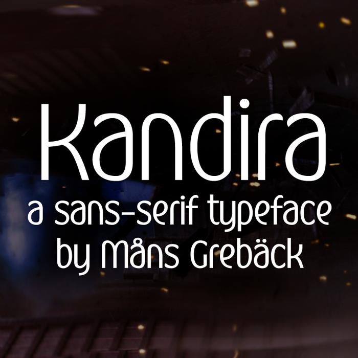 Kandira Font poster