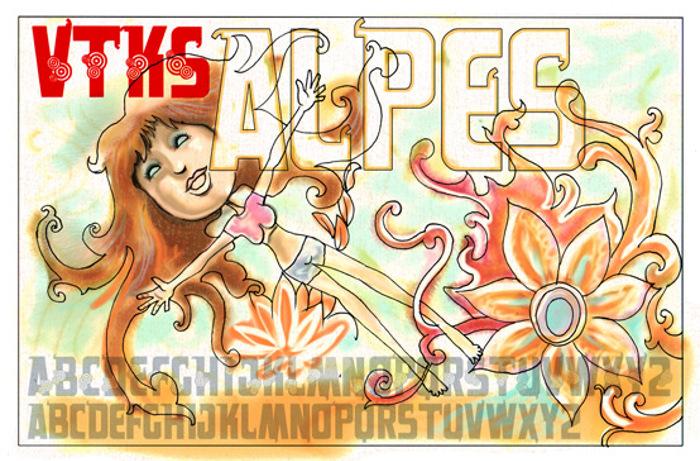 VTKS alpes Font poster