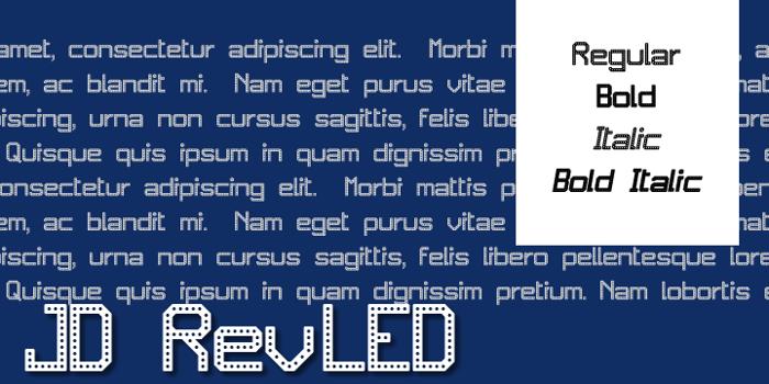 JD RevLED Font poster