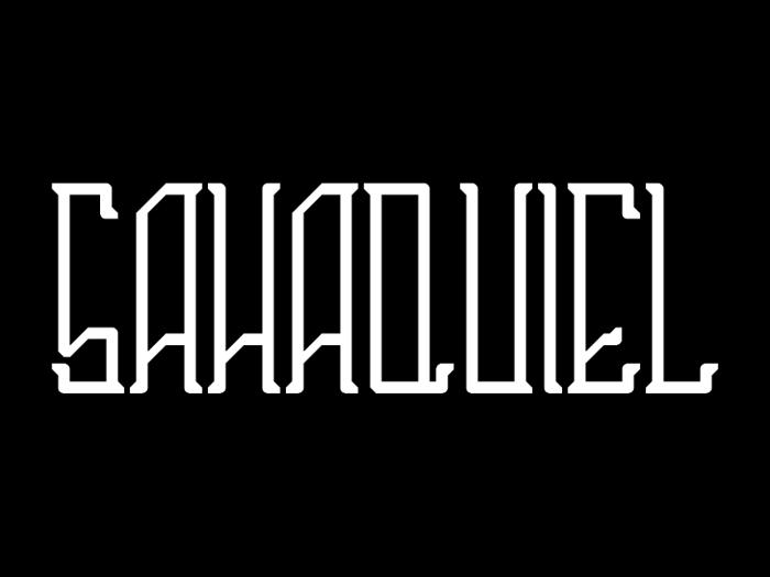Sahaquiel Font poster