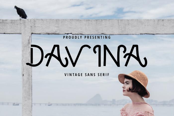 Davina Vintage Font poster