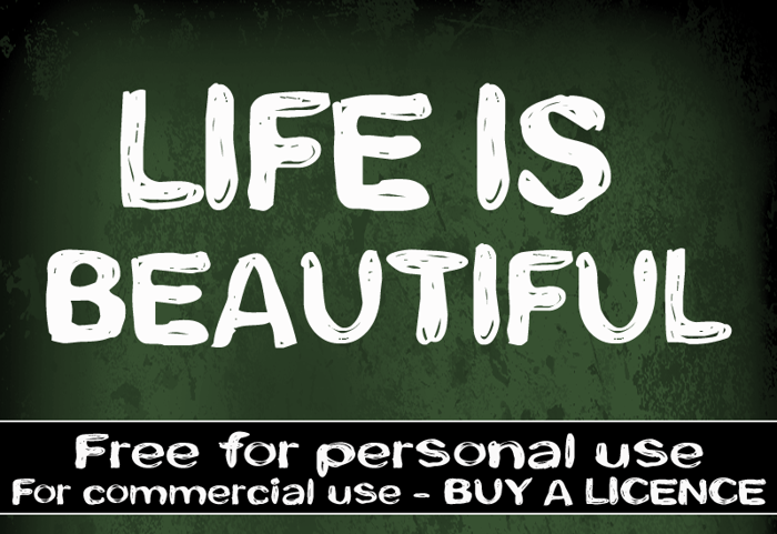 CF Life is beautiful Font poster