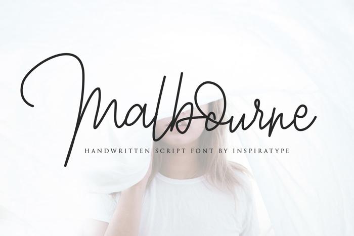 Malbourne Font poster