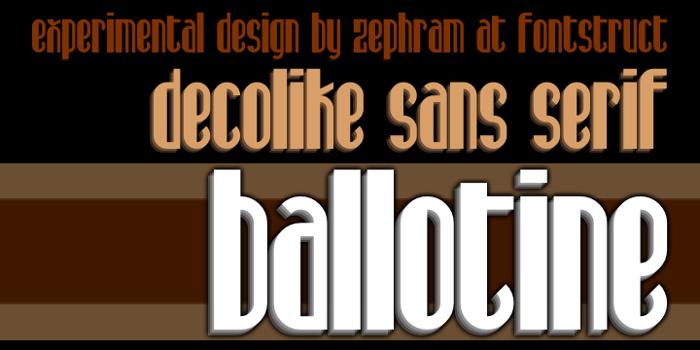 Ballotine Font poster