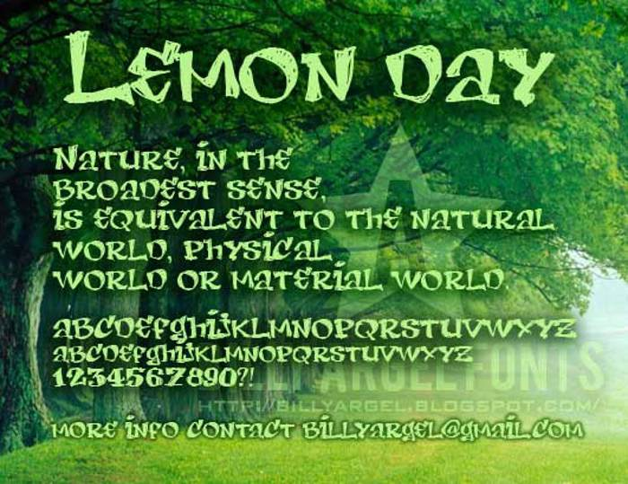 LEMON DAY Font poster