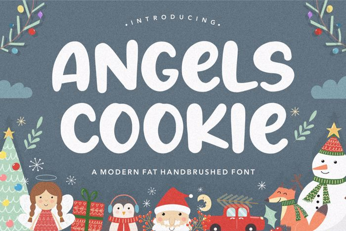 Angels Cookie Font poster