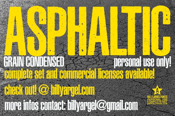 ASPHALTIC GRAIN CONDENSED Font poster
