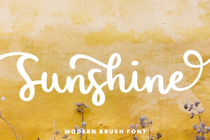 Sunshine Font poster
