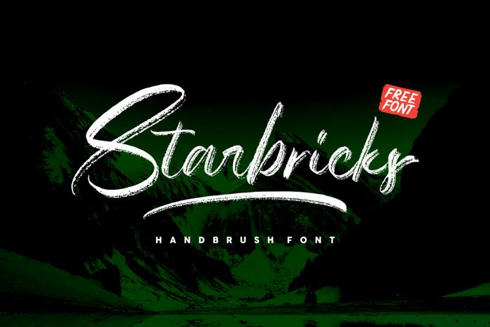 Starbricks Font poster