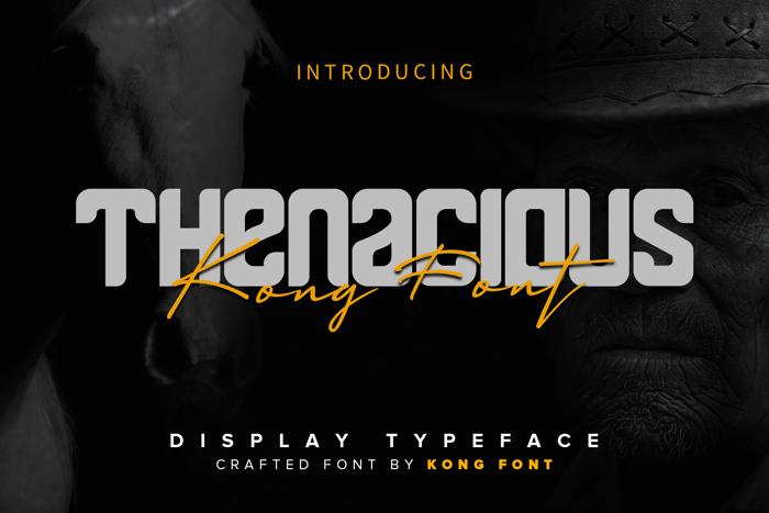 Thenacious Font poster