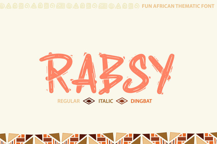 Rabsy Font poster