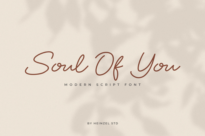 Soul Of You Font poster